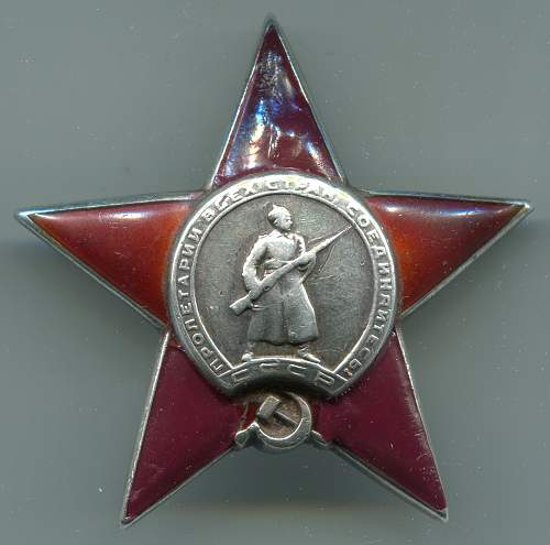 Order of the Red Star, #56311, Squad Commander, 810th Rifle Regiment, 394th Rifle Division