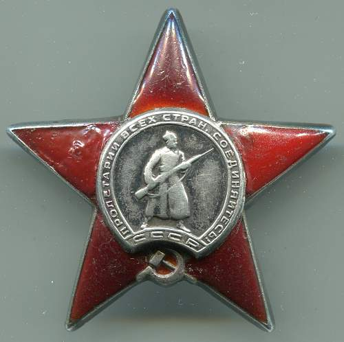 Order of the  Red Star, #181106, Messenger, 14th Independent Signals Battalion, 3rd Rifle Corps