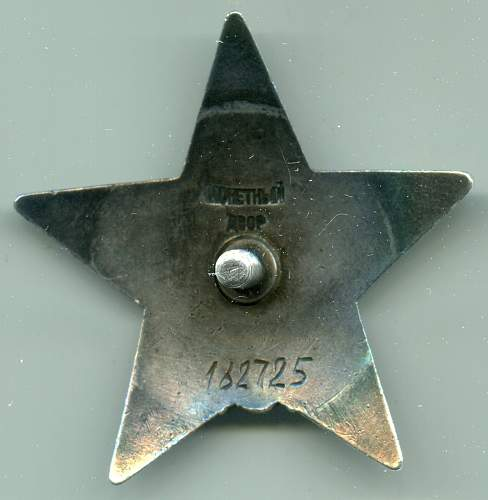 Order of the Red Star, #182725, Sailor, Northern Fleet Red Banner Submarine Brigade Shore Base