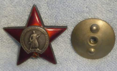 Order of the Red Star for opinions