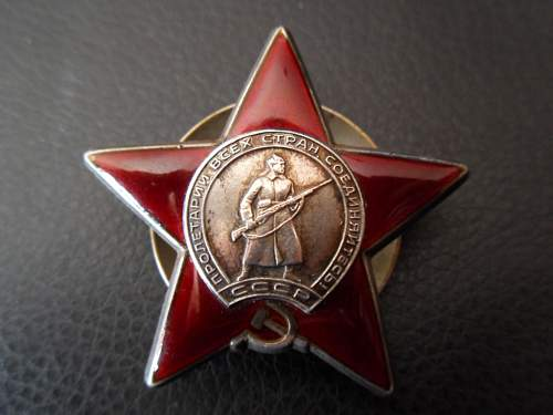 Order of the Red Star - Share