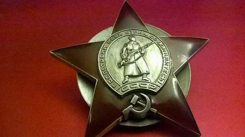 Order of The Red Star, original?