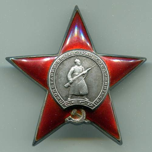 Order of the Red Star, #977786, Rifle Platoon Commander, 330th Guards Red Banner Rifle Regiment