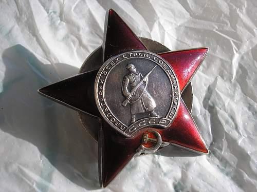 Original or fake Order of the Red star