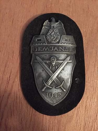 Demjansk Shield for review