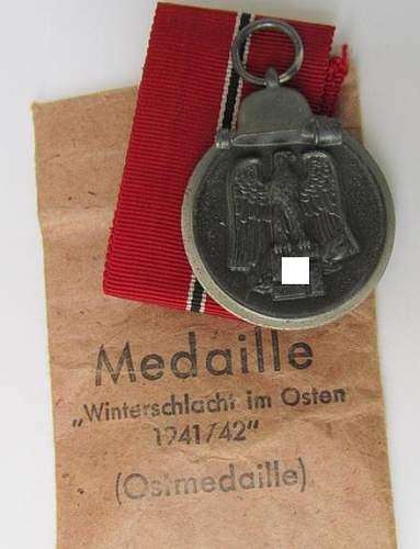 """Medaille """"Winterschlacht im Osten 1941/42"""" (Ostmedaille) (Foerster u Barth.)"""