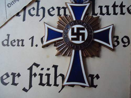Vaulted Silber Mutterkreuz and all the research that goes with it!