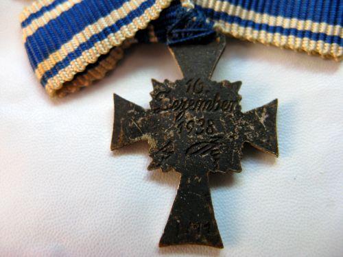 Ww2 German Silver Miniature Mothers Cross