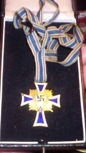 WW ll German Nazi Mothers  Cross