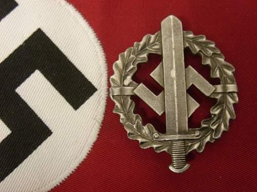 German ww2 SA Sportabzeichen in silver.
