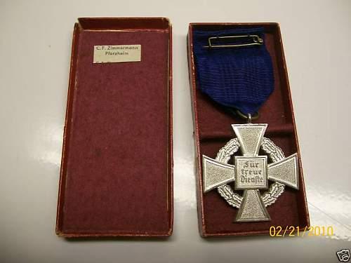 WWII German Medal 25 years