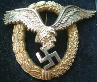 Pilot Observer Badge Fake Gallery