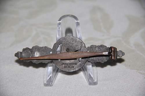 Frontflugspange für Aufklärer in Silber made by Imme
