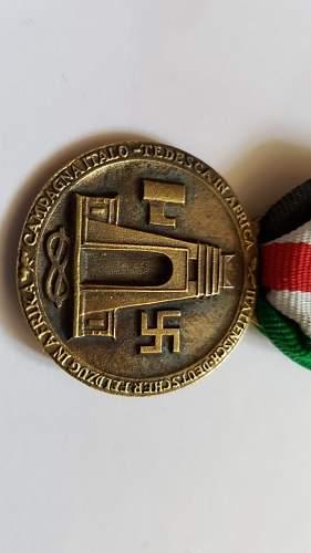 Medaille für den Italiensch-Deutschen Feldzug in Afrika - Real or Fake?