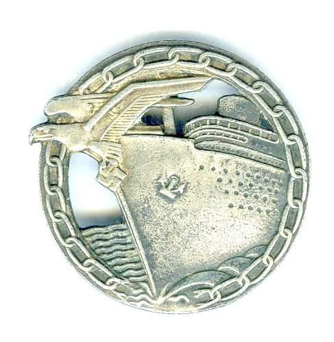 Authentic Naval Blockade Runner badge?