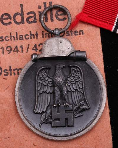 Eastern front medal with bag