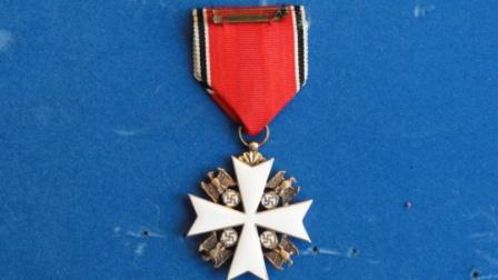 Grosskreuz des Deutschen Adlerordens / Grand Cross of the Order of the German Eagle w/ Swords (makers mark - 900 21 on loop)