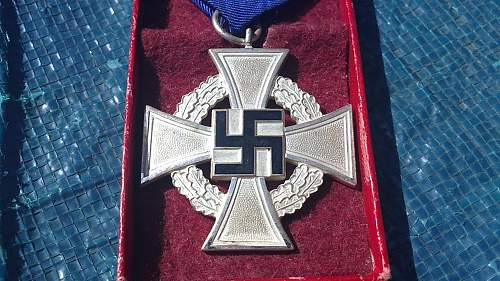 25 year service cross opinions