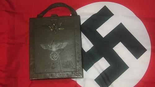 I'm New (Nazi medals, ammo box & Flag)