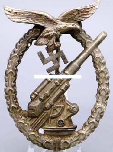 Flakkampfabzeichen der Luftwaffe, opinions please?