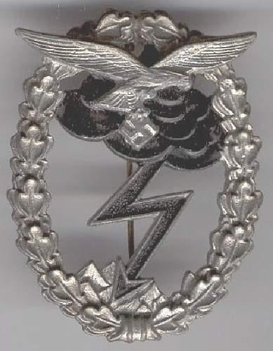 Luftwaffe Erdkampfabzeichen - Ground Assault Badge Fake Gallery