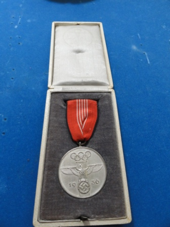 1936 German Olympics Silver Medal in orig box