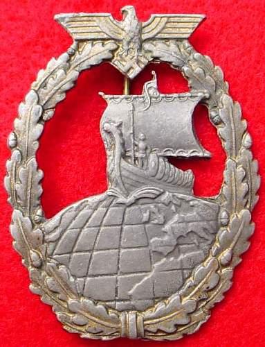Auxiliary Cruiser Badge Fake Gallery