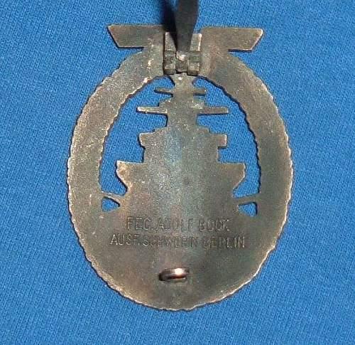 Flottenkriegsabzeichen original or fake