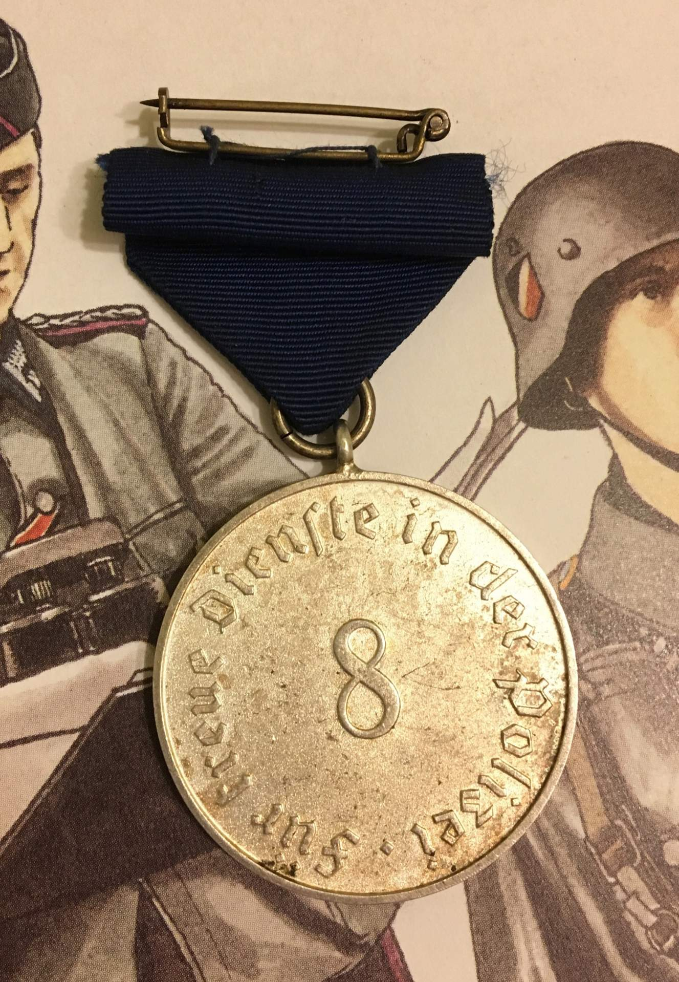 Year Long Nature Study Reminders: POLIZEI EIGHT YEAR LONG SERVICE AWARD, 1938. (Polizei
