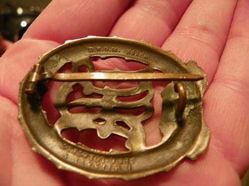 DRA Sportabzeichen in bronze input.