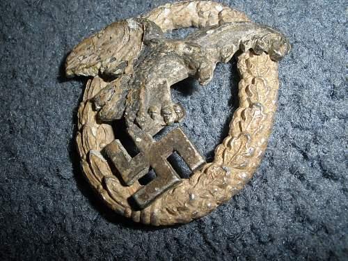 Ground dug Luftwaffe Beobachterabzeichen.