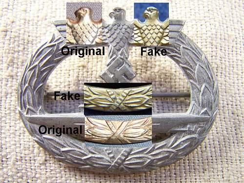 3 Kriegsmarine badges help