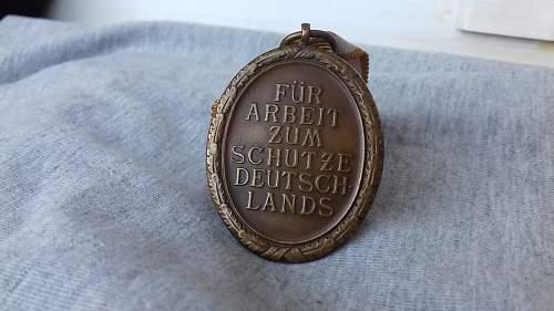 My new Deutsche Schutzwall Ehrenzeichen