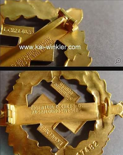 SA-Sportabzeichen Gold
