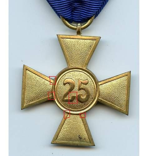 Wehrmacht-Dienstauszeichnung 1. Klasse - 40  Jahre
