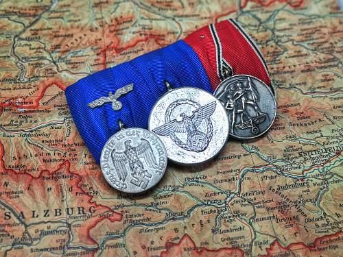 3er Wehrmacht / Polize medal bar