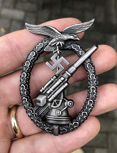 """My new Flak-Kampfabzeichen der Luftwaffe - """"Ball-Hinge"""""""
