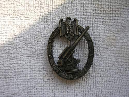 Heeres-Flak Abzeichen manufacturer?