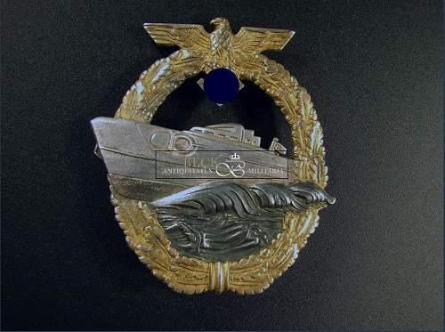 Schnellboot-Kriegsabzeichen 2dn pattern by Schwerin for review
