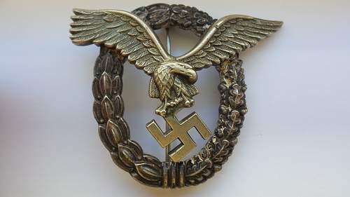 Flugzeugführer badge