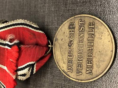 Bronzene Verdienstmedaille der Deutschen Adlerodern