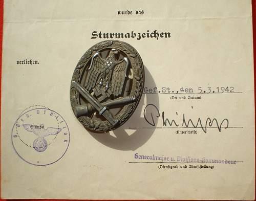 Sturmabzeichen S&L