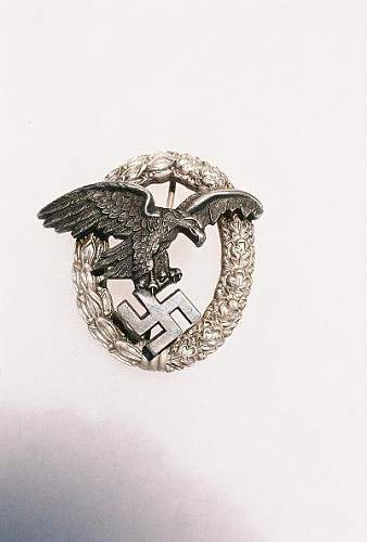 Luftwaffe Beobachterabzeichen, opinions wanted......