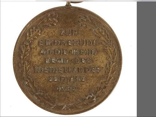 Memelland anschluss medallie