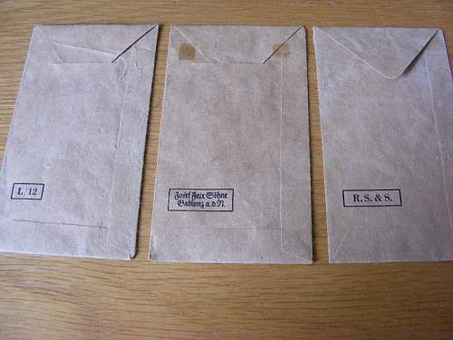 Various award issue packets
