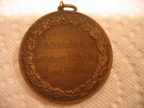 1938 German athletic medal