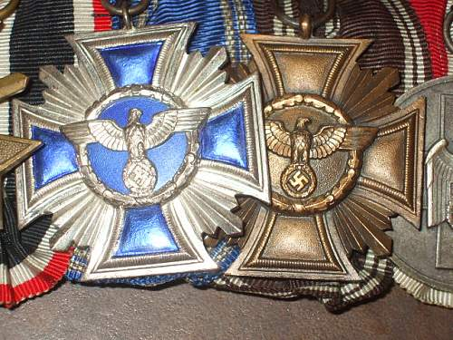 My latest find: NSDAP Long service medal bar