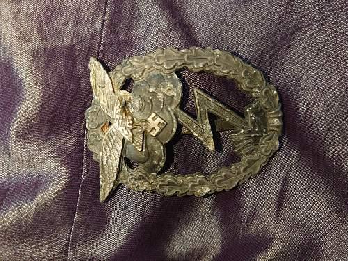 Erdkampfabzeichen der Luftwaffe, Original?