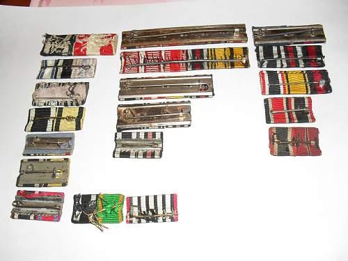 Some ribbon bars