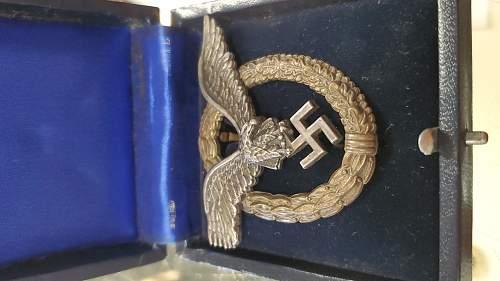 Flugzeugführerabzeichen - Luftwaffe Pilots badge - What do you guys think?